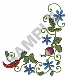 GARDEN BORDER embroidery design