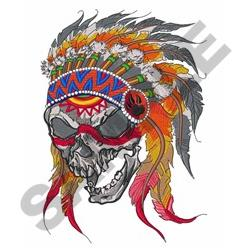 Indian Chief Skull embroidery design