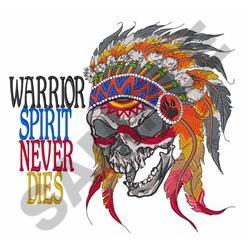 Warrior Spirit embroidery design