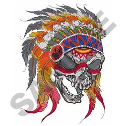 Indian Skull embroidery design