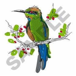 Rainbow Bee Eater embroidery design