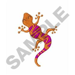 Small Gecko embroidery design