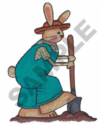 BUNNY DIGGING embroidery design