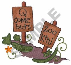 QCOMEBURS ZOOKINI embroidery design
