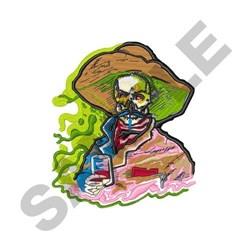 Vaquero Skeleton embroidery design