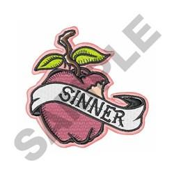 Sinner Apple embroidery design