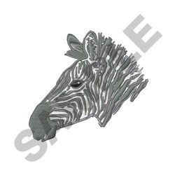 Zebra Head embroidery design