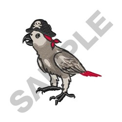Parrot Pirate embroidery design