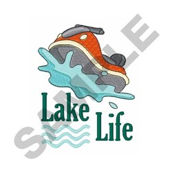 Lake Life embroidery design