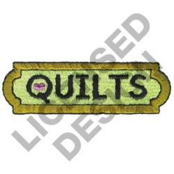 QUILTS SIGN embroidery design
