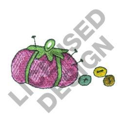PINCUSHION AND BUTTONS embroidery design