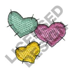THREE HEARTS embroidery design