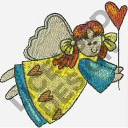 COUNTRY ANGEL & BALLOON embroidery design