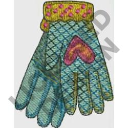 GLOVES embroidery design