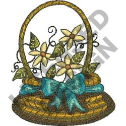 FLORAL BASKET embroidery design