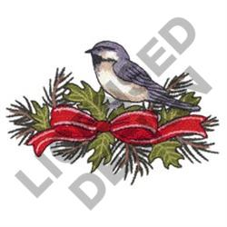 SPARROW AND GARLAND embroidery design