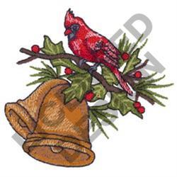 CARDINAL & CHRISTMAS BELL embroidery design