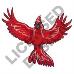 CARDINAL IN FLIGHT embroidery design