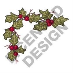 HOLLY CORNER BORDER embroidery design