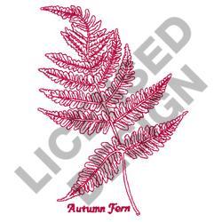 AUTUMN FERN embroidery design