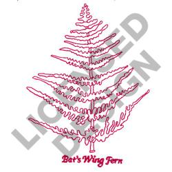 BATS WING FERN embroidery design