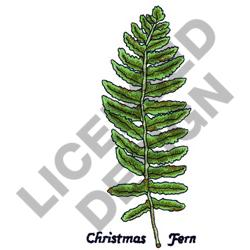 CHRISTMAS FERN embroidery design
