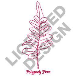 POLYPODY FERN embroidery design