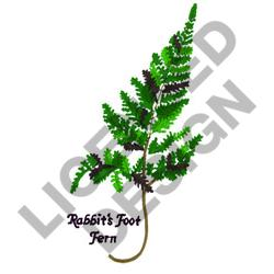 RABBITS FOOT FERN embroidery design