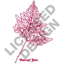 PAINTED FERN embroidery design