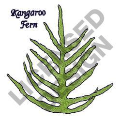 KANGAROO FERN embroidery design