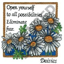 INSPIRATIONAL DAISES embroidery design