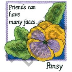 INSPIRATIONAL PANSY embroidery design