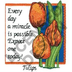INSPIRATIONAL TULIPS embroidery design