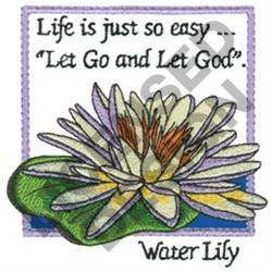 INSPIRATIONAL WATER LILY embroidery design