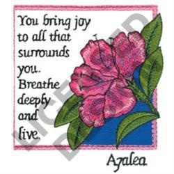 INSPIRATIONAL AZALEAS embroidery design