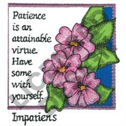 INSPIRATIONAL IMPATIENS embroidery design