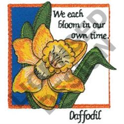 INSPIRATIONAL DAFFODIL embroidery design