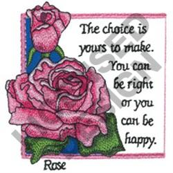 INSPIRATIONAL ROSES embroidery design