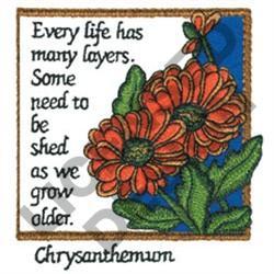 INSPIRATIONAL CHRYSANTHEMON embroidery design