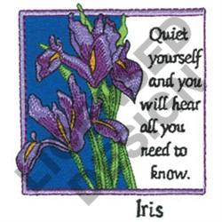 INSPIRATIONAL IRISES embroidery design