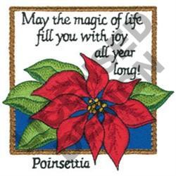 INSPIRATIONAL POINSETTIA embroidery design