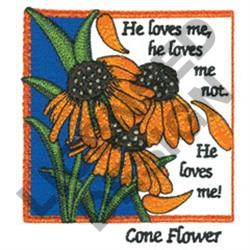 INSPIRATIONAL CONE FLOWERS embroidery design