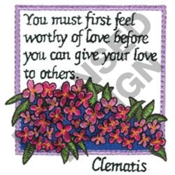 INSPIRATIONAL CLEMATIS embroidery design