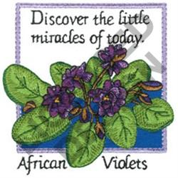 INSPIRATIONAL AFRICAN VIOLETS embroidery design