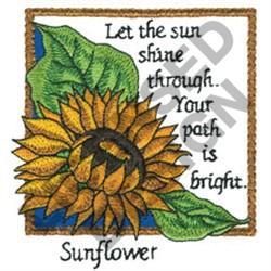 INSPIRATIONAL SUNFLOWER embroidery design