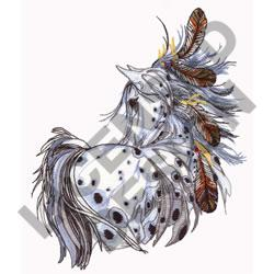 LEOPARD APPALOOSA embroidery design