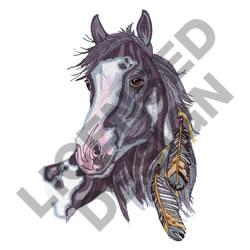 FEATHERED HORSE embroidery design