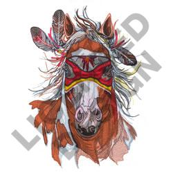 MASKED HORSE embroidery design
