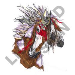 WAR HORSE embroidery design