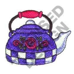 DECORATIVE TEA KETTLE embroidery design